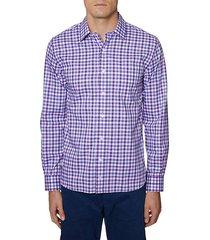 regular-fit stretch gingham shirt