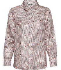 rosie shirt overhemd met lange mouwen rood nué notes