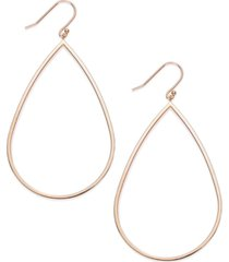 14k rose gold vermeil earrings, teardrop dangle earrings
