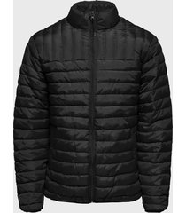 parka only & sons onspaul quilted highneck jacket otw negro - calce regular