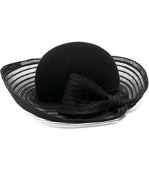 emporio armani chapéu com laço - preto