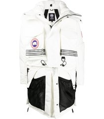canada goose x angel chen convertible snow mantra coat - white