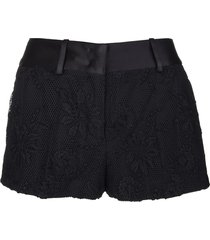 ermanno scervino black mesh and lace shorts