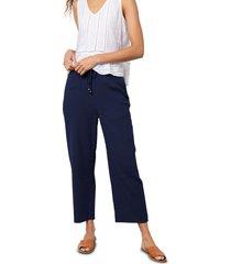 women's rails agnes crop wide leg pants, size medium - blue