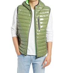 men's noize gavyn hooded puffer vest, size large - beige