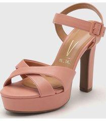 sandalia rosa vizzano
