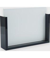 ramka na zdjęcia - szklana z czarną oprawką 13x18 cm (gładka, bez nadruku)