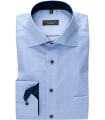 eterna shirt comfort fit lichtblauw gestipt