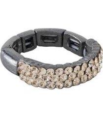 anel armazem rr bijoux regulável cristal