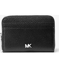 mk portafoglio piccolo in pelle martellata - nero (nero) - michael kors