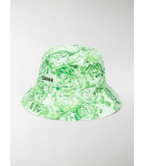 ganni floral print bucket hat