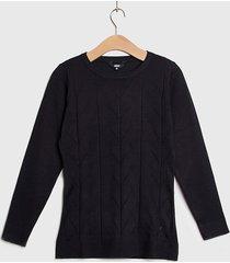 sweater ash liso con diseño negro - calce ajustado