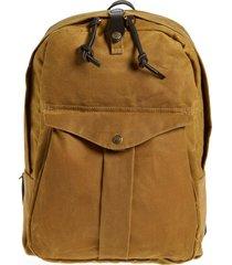 men's filson 'journeyman' coated canvas backpack - brown