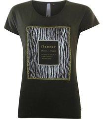 t-shirt flaneur donkergroen