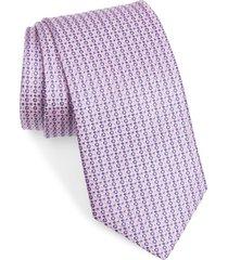 men's eton geometric silk tie
