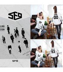 kpop sf9 feeling sensation sweater dawon unisex zuho sweatershirt hoodie chani
