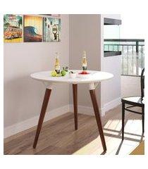 mesa de jantar redonda valentinna artesano 23071 pés palito imbuia