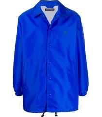 acne studios jaqueta com estampa de rosto - azul