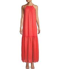embellished halterneck maxi dress