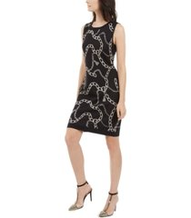 inc chain-print sweater dress, created for macy's
