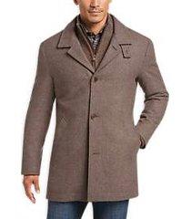 joseph abboud tan modern fit twill car coat