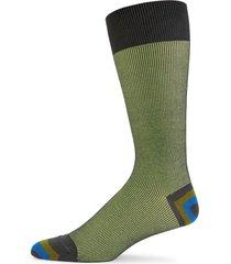 paul smith men's ribbed crew socks - green