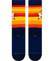 men's stance houston astros crew socks, size large - black