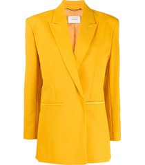 dorothee schumacher boxy fit structured shoulder blazer - yellow