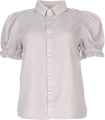 blouse met korte pofmouwen danee  paars