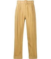 department 5 belted high-waist trousers - neutrals
