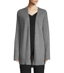 printed open-front cashmere cardigan