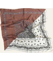 pañuelo marrón nuevas historias dos colores triángulo ba1191-58