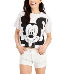 disney juniors' cotton silly mickey graphic-print t-shirt