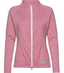 cloudspun w warm up jacket sweat-shirt tröja rosa puma golf
