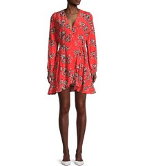 iro women's xena floral-print wrap dress - red - size 34 (2)