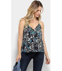 blusa colcci floral feminina