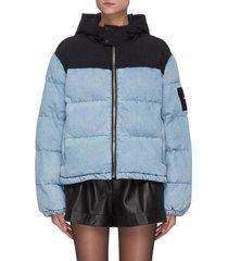 puffer hybrid denim jacket