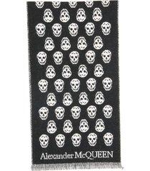 alexander mcqueen upside down skull reversible scarf