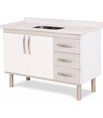 gabinete para cozinha 120cm mdp 12mm munique palissandro ártico 116,2x60x49,5cm - rorato - rorato
