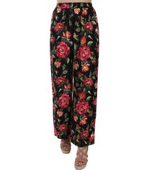 bloemenprint silk pyjamabroek