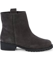 pebblestone suede & faux fur booties