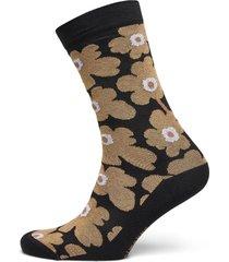 hieta unikko socks lingerie socks regular socks svart marimekko