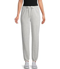 kendall + kylie women's drawstring cotton-blend sweatpants - heather grey - size xl