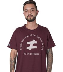 camiseta masculina stoned be the difference