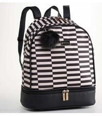 mochila vivara preto - multicolorido/preto - dafiti