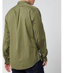 polo ralph lauren men's chino sport shirt - jungle - xl