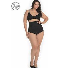 cinta modeladora pós-parto zíper e abertura mondress lingerie preto