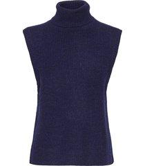 elisha neck waist coat vests knitted vests blå norr