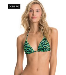 traje de baño top verde-negro-amarillo maaji swimwear tabby cat balmy