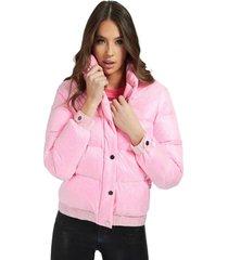 chaqueta penny down jacket rosado guess